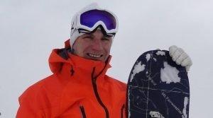Roddy Clarke, off-piste, snowboard instructor, val disere, hat trainer