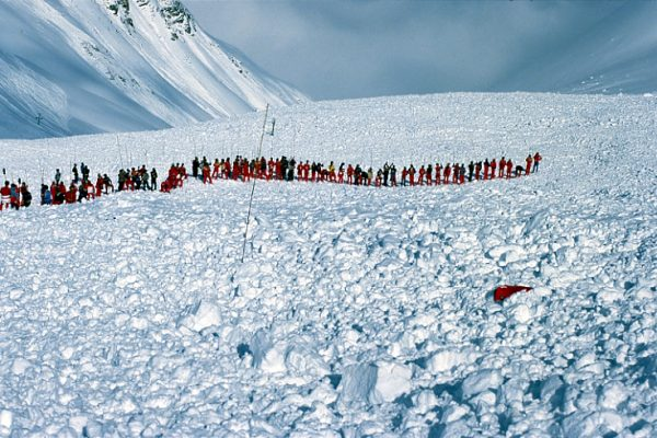 probing for avalanche victim