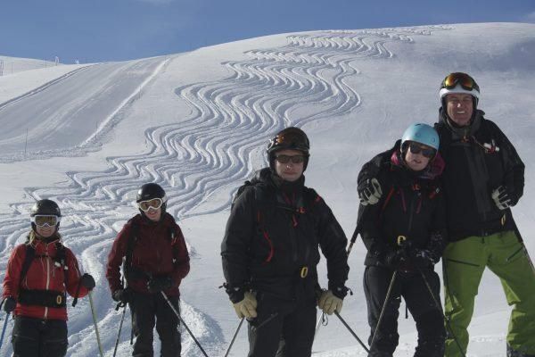 Amazing day off-piste, off piste group