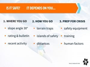 Off piste safety checklist - quick reference guide